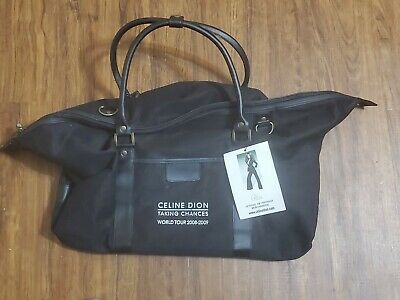 Celine Dion Taking Chances World Tour 2008-2009 Black Duffel Bag VIP Package • 31.89£