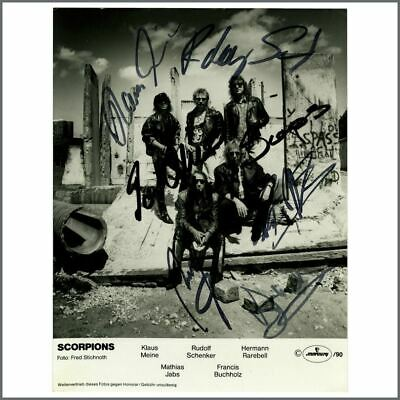 Scorpions Autographed Promotional Photograph (UK) • 215£