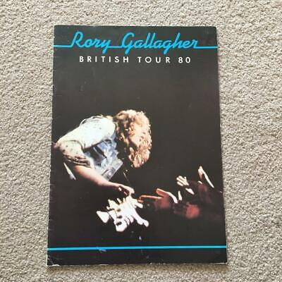Rory Gallagher British Tour  Programme 1980 Ref B • 20£