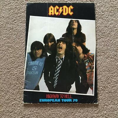 Tour Programme  AC/DC  Highway To Hell Tour 1979 Ref A • 60£