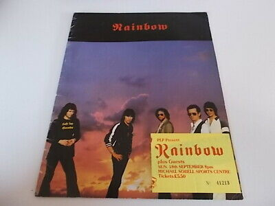 Rainbow 1980 Concert Programme And Ticket  • 18£