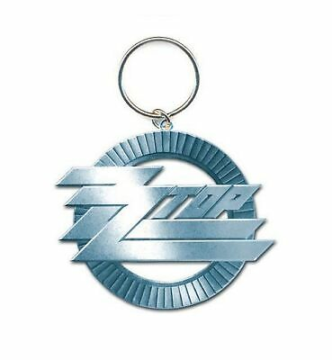 ZZ Top Keyring Keychain Circle Band Logo New Official Metal Size One Size • 4.25£