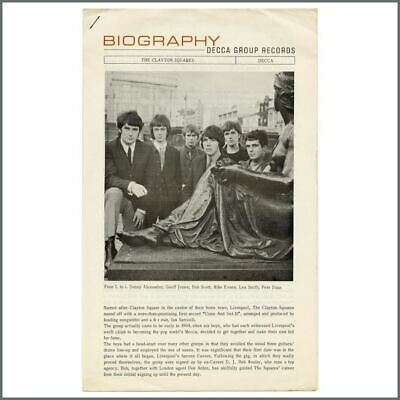 The Clayton Squares 1965 Decca Records Biography (UK) • 38.50£
