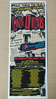 GUNS N' ROSES - Milton Keynes 1993 Concert -Magazine Advert Picture Cutting RARE • 5.95£