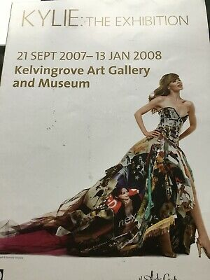 Kylie Minogue Rare Glasgow Poster 2008 And Matching Carrier Bag  • 10.99£