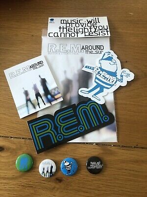 REM Promo Only Around The Sun Sticker & Badge Pack • 5£