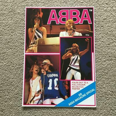 ABBA Poster Magazine 1979 Folds Out To Colour Poster 84 Cm X 59.4 Cm • 20£