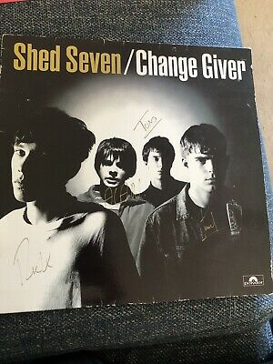 Shed Seven Autographed Album Sleeve Change Giver  • 5£