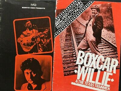 UK COUNTRY PROGRAMMES - Signed '83 Boxcar Willie & '73 Hank Snow/Tompall Glaser • 10£