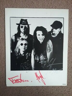 The Almighty, Full Autographed Photograph, Circa 1991. Signed At Aston Villa Gig • 5£