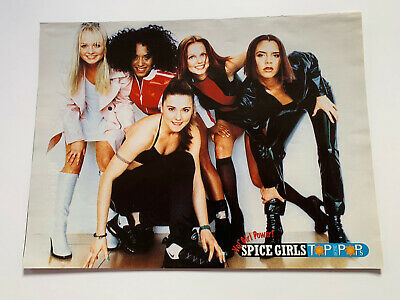 **spice Girls Uk Vintage Top Of The Pops 1-page Pullout Poster** • 12.99£