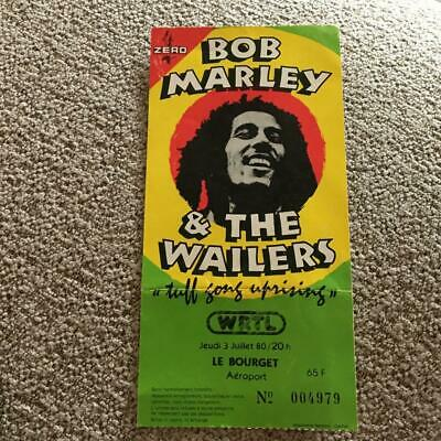 Bob Marley & The Wailers  Ticket Le Bourget, France 03/07/80 • 150£