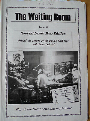 GENESIS The Waiting Room Fanzine #43 Lamb Lies Down Tour Special Peter Gabriel • 4.99£