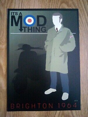 It's A Mod Thing Brighton 1964 Poster Repro/Reprint A4 Print  • 4.99£