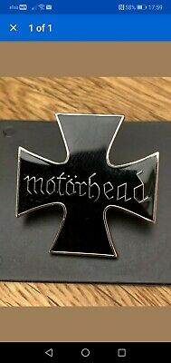 Motorhead Lemmy Kilmister Badge Pin Heavy Metal Iron Cross Rock Music Old Band • 4.99£