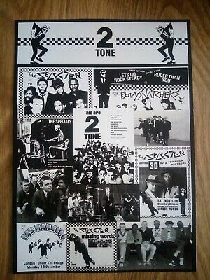 Two Tone Records Ska / Skinhead Photo Montage Poster A4 Repro/Print • 6.99£