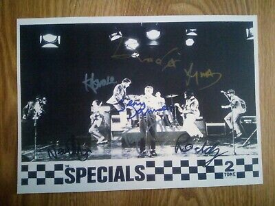 Two Tone The Specials Signed Photograph Repro/Reprint A4 Print *Extremerly Rare* • 6.99£