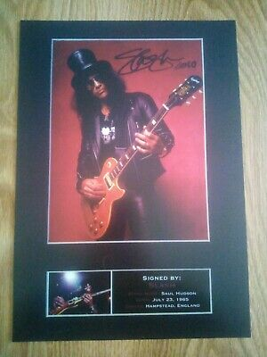 Slash / Guns N' Roses Signed Photograph Repro/Reprint A4 Print  • 4.99£