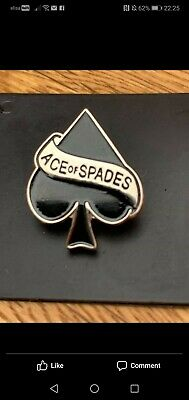 Official - Motorhead -  Ace Of Spades  - High Quality Metal Pin On Badge - Lemmy • 3.99£