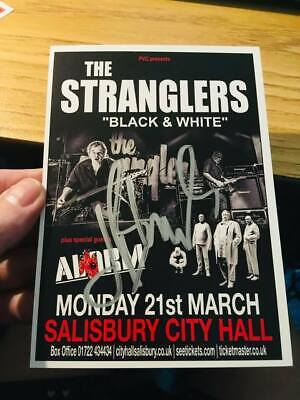 THE STRANGLERS A6 FLYER -SIGNED BY JET BLACK- Salisbury -2016 BLACK & WHITE TOUR • 5.99£