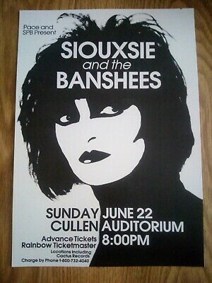 Siouxsie And The Banshees Gig Poster A4 Repro/Print • 6.99£