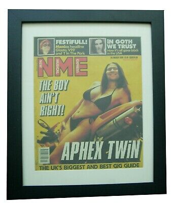 Aphex Twin+nme 1999+original+vintage+poster+quality Framed+express Global Ship • 69.95£
