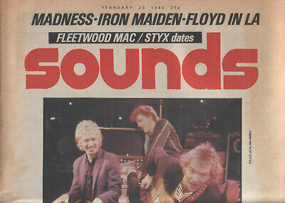 Sounds (music Weekly) 23 Feb 1980 (police/floyd/maiden/madness) Nice Copy/rare! • 1£