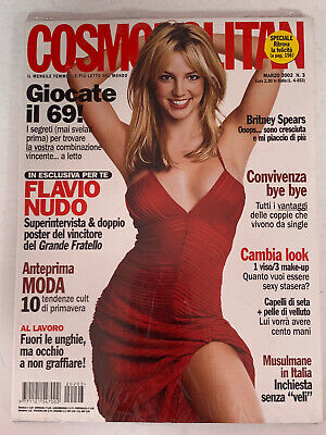 **britney Spears Italy Cosmopolitan Magazine 2002 Sealed New Condition** • 49.99£