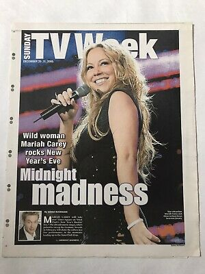 **mariah Carey New York Post Nye 2006 Tv Week Newspaper Supplement Pullout** • 19.99£