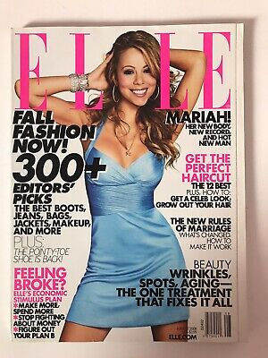 **mariah Carey Usa Elle Magazine August 2008 - Great Condition** • 39.99£