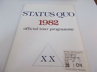 Status Quo 1982 Concert Programme Ticket And Bumber Strip • 24£