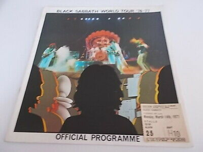 Black Sabbath 1976/77 Tour Programme And Ticket From Hammersmith • 45£