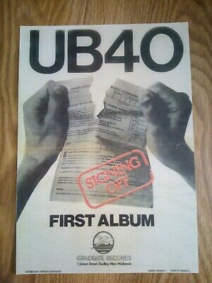UB40 Signing Off Promotion Poster A4 Print Repro/Reprint  • 4.99£