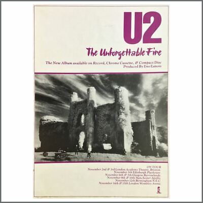 U2 1984 The Unforgettable Fire Promotional Poster (UK) • 110£