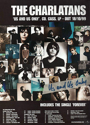 THE CHARLATANS 'Us & Us Only' - Full Page Magazine Advert Picture 1999 RARE • 3.45£