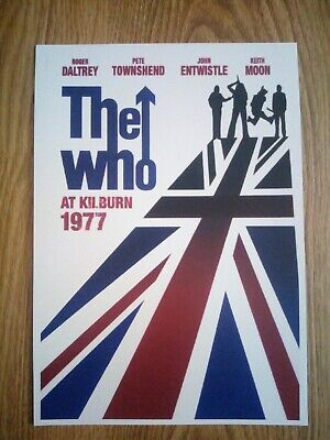 The Who 'At Kilburn 1977' Music Poster Repro/Reprint A4 Print  • 4.99£