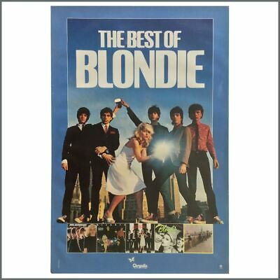 Blondie 1981 The Best Of Blondie Chrysalis Records Promotional Poster (USA) • 137.50£