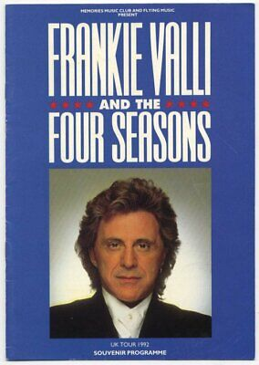 Frankie Valli & The Four Seasons 1992 Programme • 25£