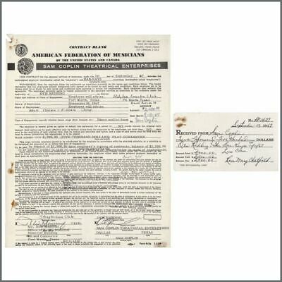 Otis Redding 1967 Ridglea Country Club Performance Contract (USA) • 1,650£
