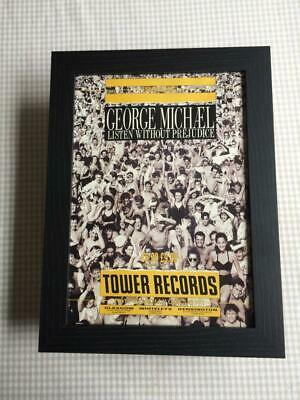 George Michael Listen Without Prejudice Framed  A4 Advert • 25£