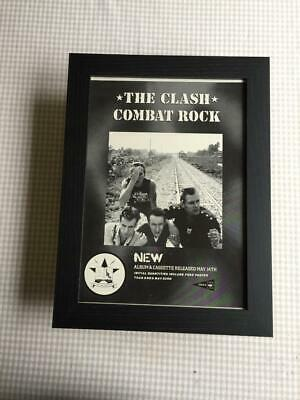 The Clash Combat Rock Framed  A4 Advert • 25£