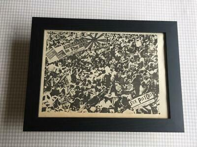 Sex Pistols Holidays In The Sun     Framed  A4 Advert • 25£