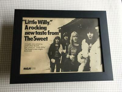 The Sweet Little Willy  1972    Framed  A4 Advert • 27.50£