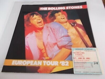 Rolling Stones Concert Programme 1982 Eu Tour And Ticket & Cuttings • 19.99£
