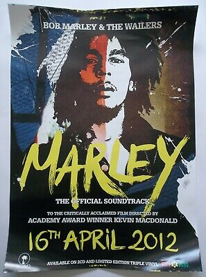 BOB MARLEY & THE WAILERS - Marley OST, Large Original UK Promo Album Poster 2012 • 29.99£