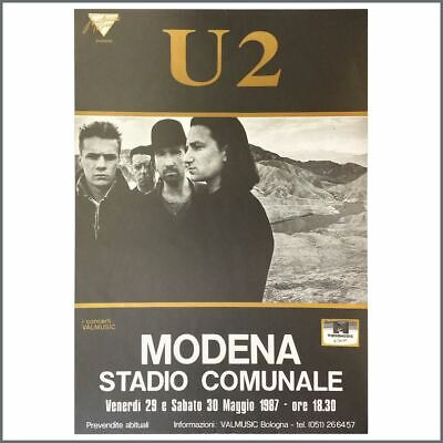 U2 1987 Stadio Comunale Modena Concert Poster (Italy) • 165£