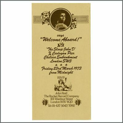 Elton John 1973 River Thames Midnight Party Invitation (UK) • 165£