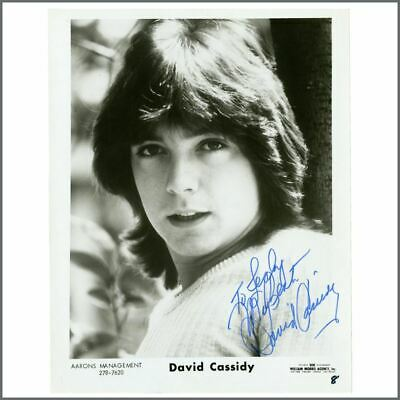David Cassidy Hand Signed Promotional Photograph (USA) • 165£