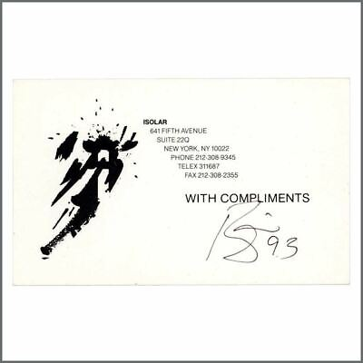 David Bowie 1993 Autographed Isolar Compliments Card (USA) • 470£