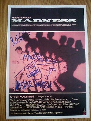 Madness Signed Promotional Poster Repro/Reprint A4 Print  • 4.99£